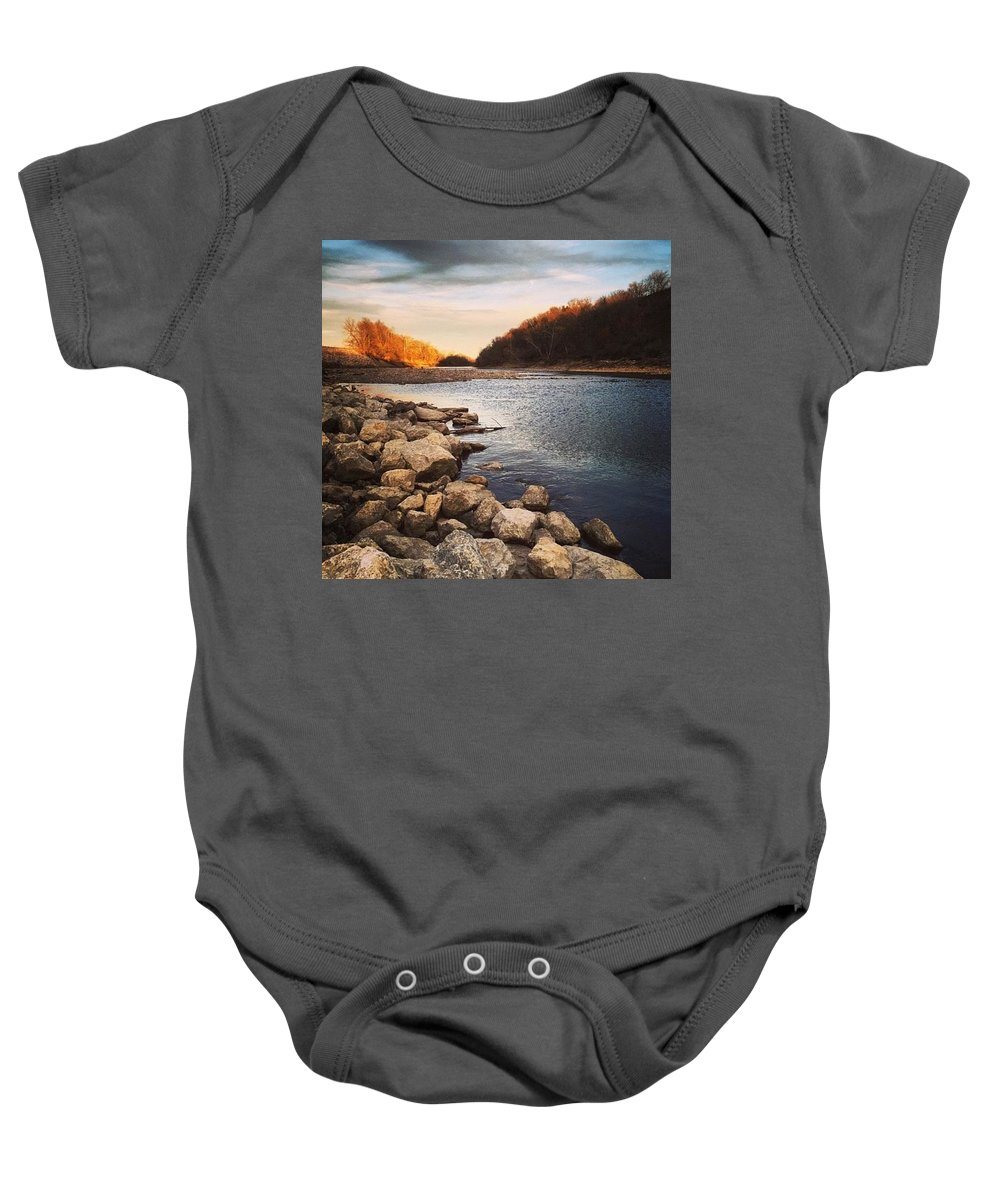 Water Baby Onesie featuring the photograph Grey Dreams by Shaylea Teel