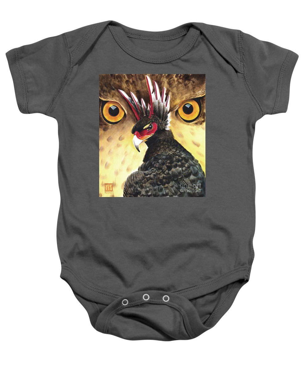 Griffin Baby Onesie featuring the painting Griffin Sight by Melissa A Benson