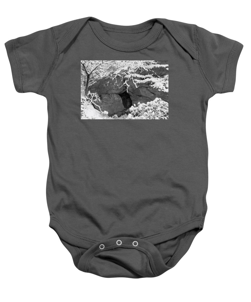 Winter Wonderland Baby Onesie featuring the photograph Grotto by Yuri Lev