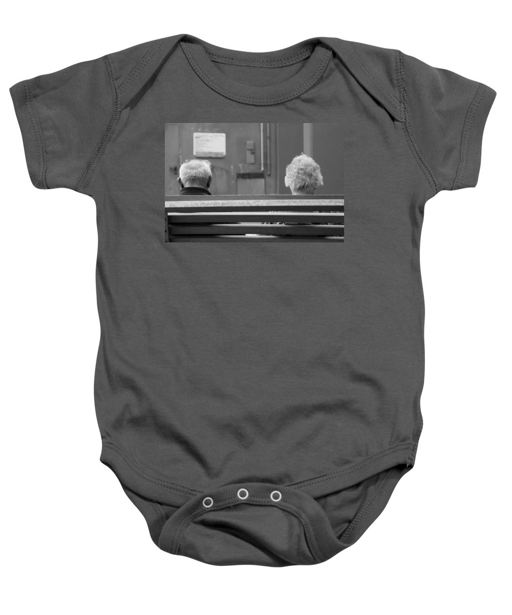 Travel Baby Onesie featuring the photograph Growing Old Together by Ian Middleton