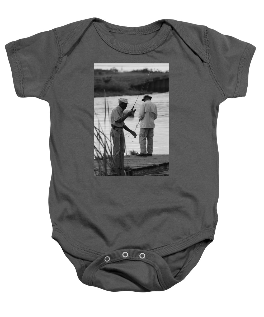 Men Baby Onesie featuring the photograph Grumpy Old Men by Rob Hans