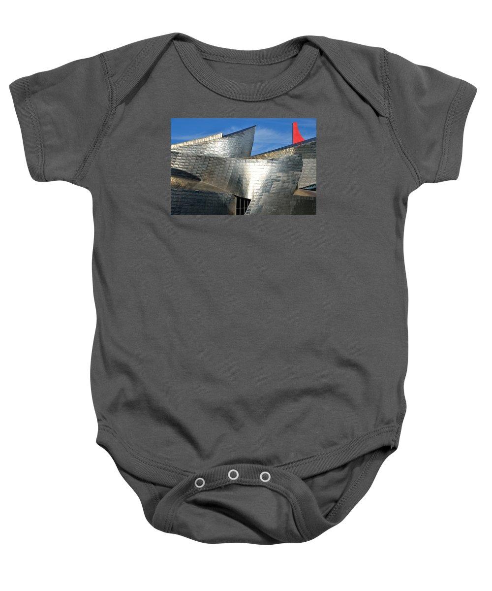 Guggenheim Baby Onesie featuring the photograph Guggenheim Museum Bilbao - 5 by RicardMN Photography