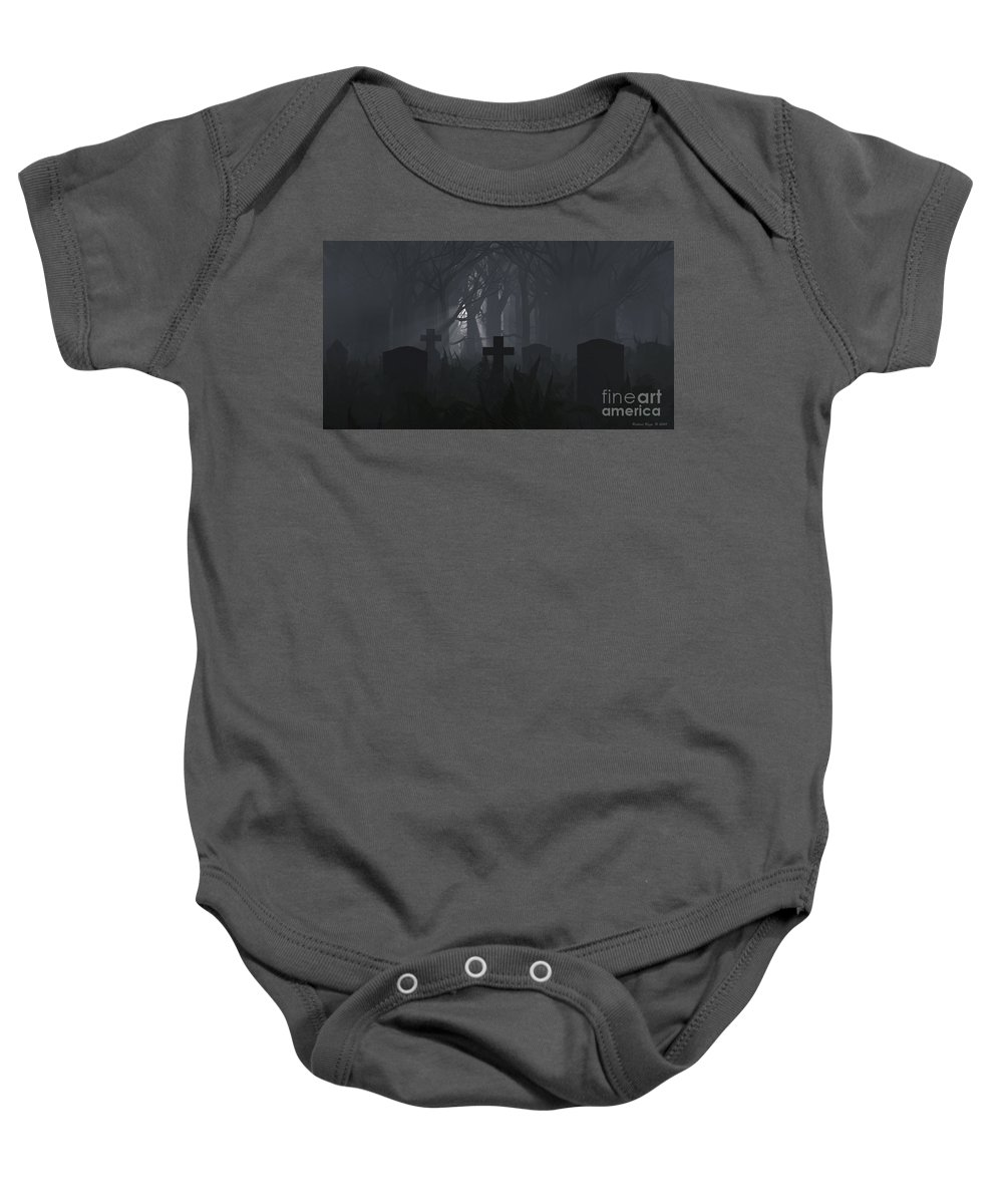 Death Baby Onesie featuring the digital art Guiding Light by Richard Rizzo