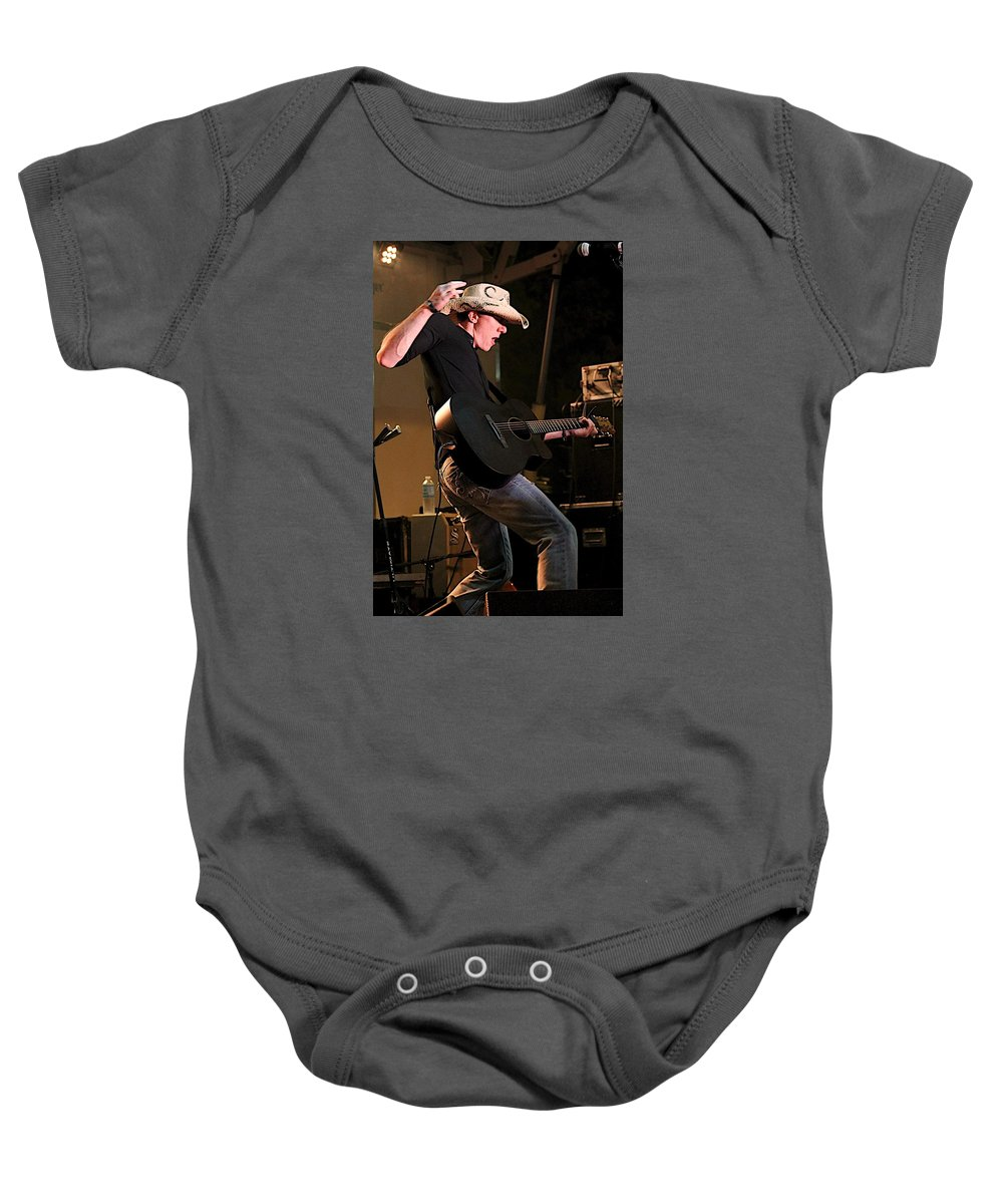 Guitar Baby Onesie featuring the photograph Guitar Player by Stuart Rosenthal