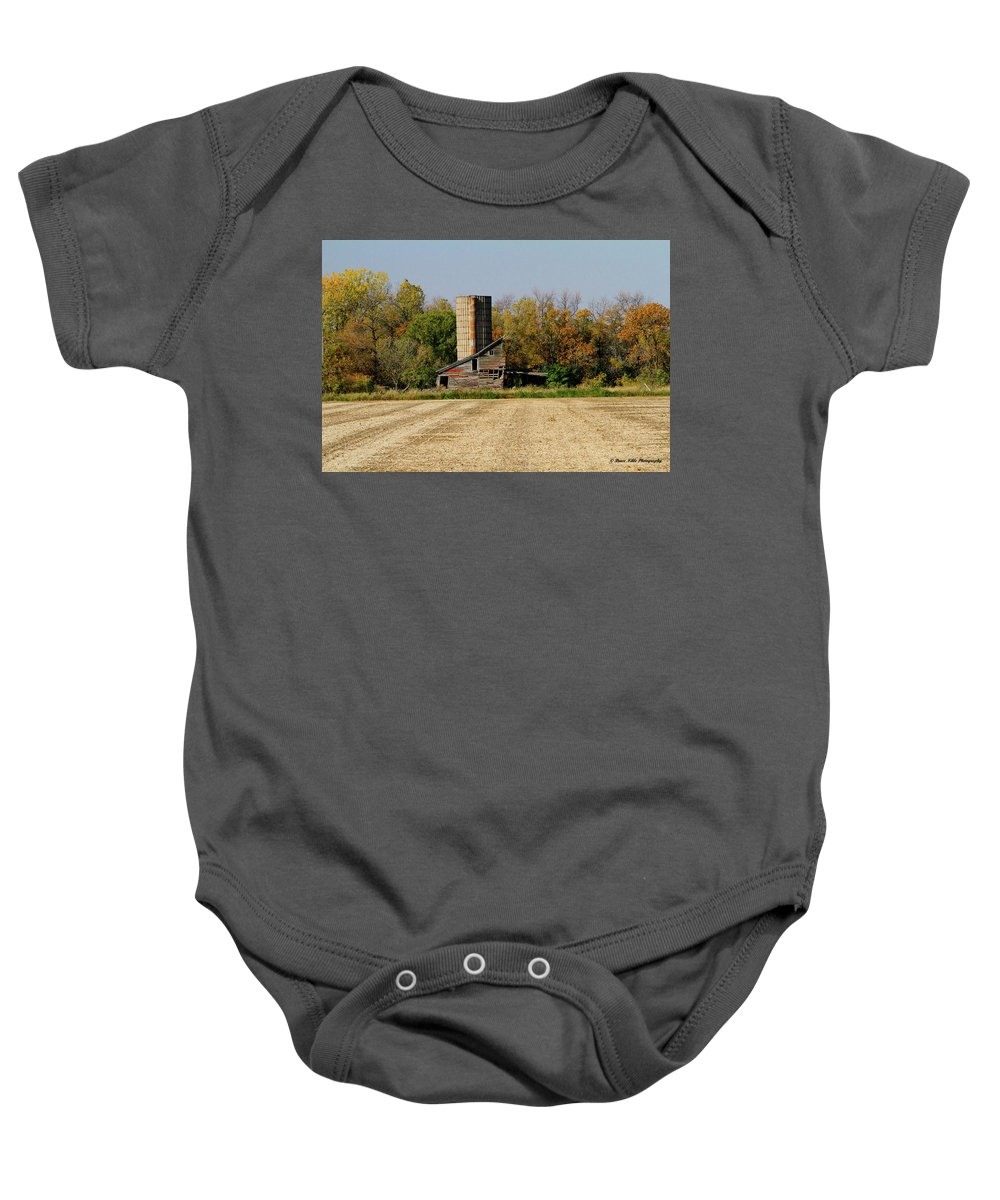 Landscape Baby Onesie featuring the photograph Half Barn - Color by Bruce Nikle