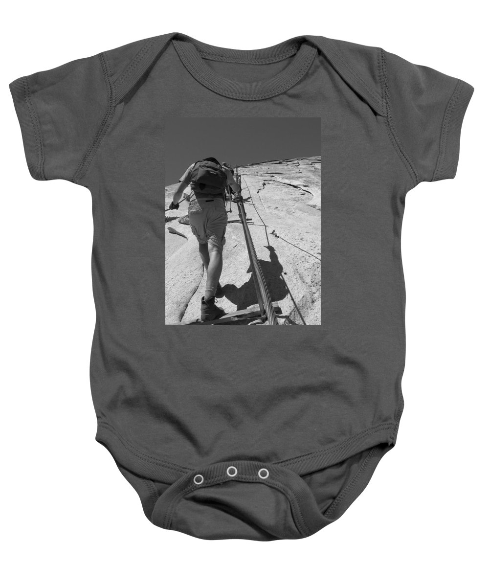 Half Dome Baby Onesie featuring the photograph Half Dome Cables by Travis Day
