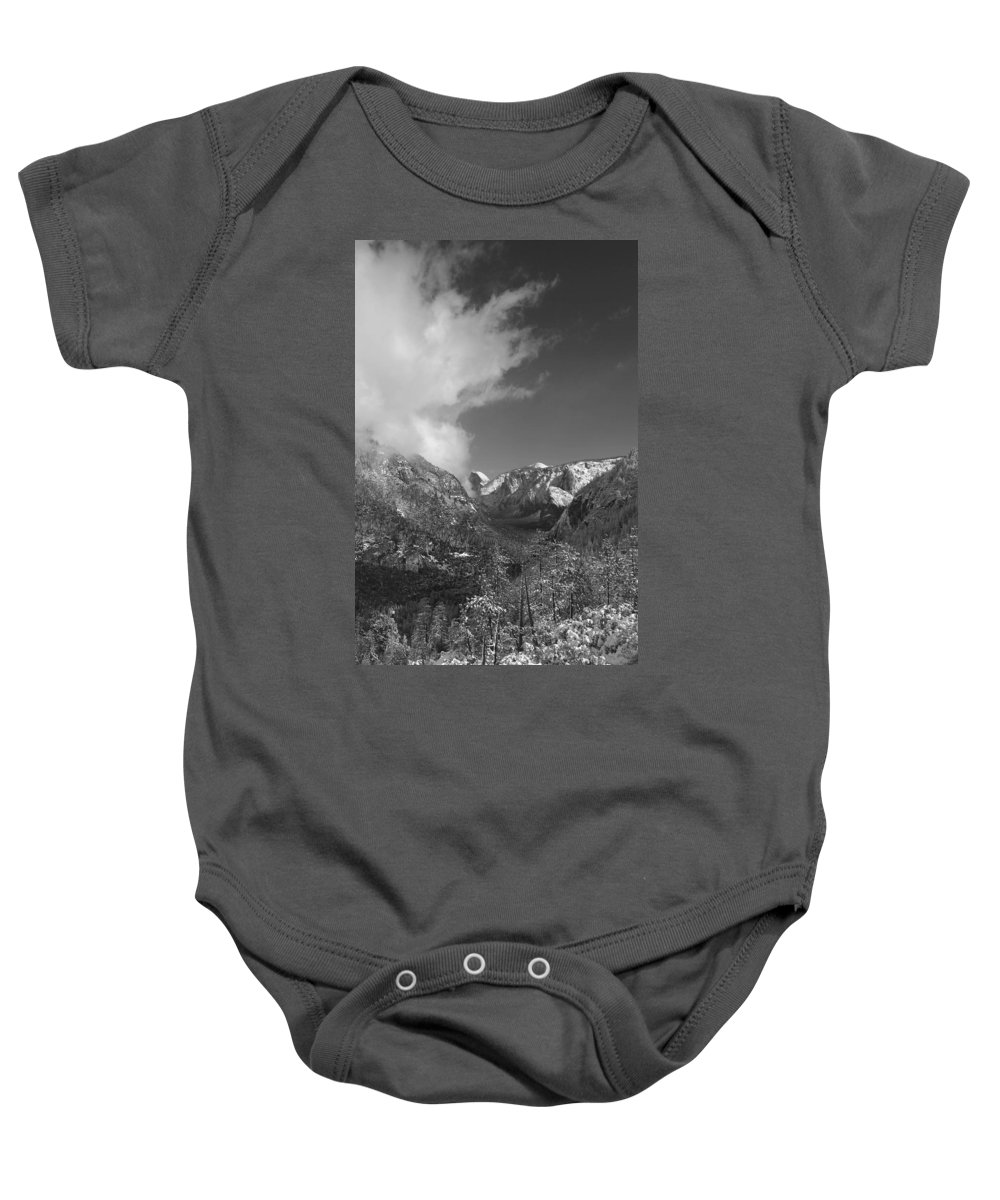 Half Dome Baby Onesie featuring the photograph Half Dome Winter by Travis Day