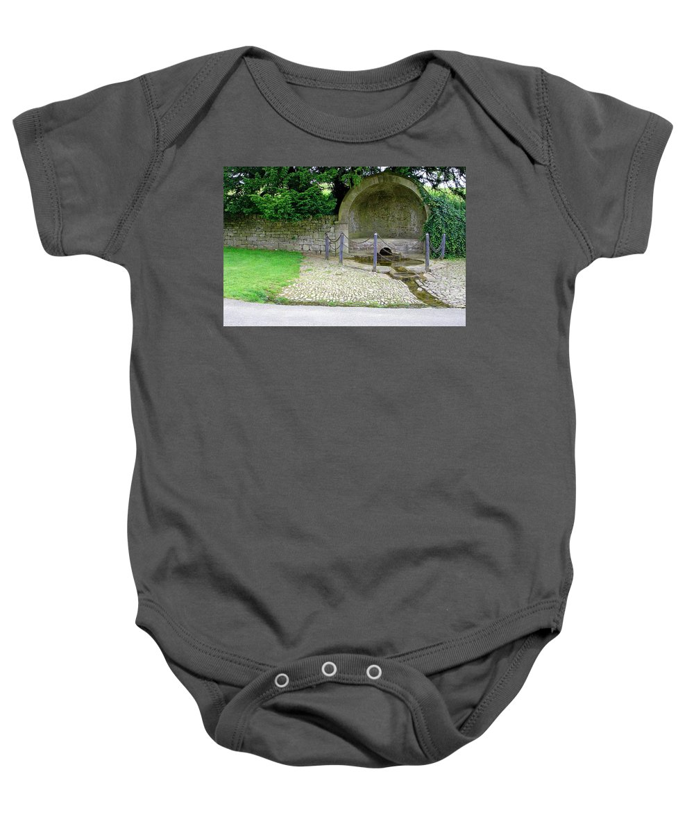 Water Baby Onesie featuring the photograph Hall Well - Tissington by Rod Johnson