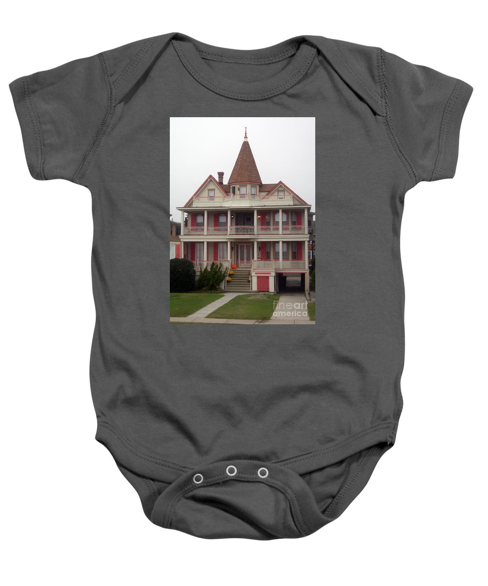 Scenic Tours Baby Onesie featuring the photograph Halloween In Cape May by Skip Willits