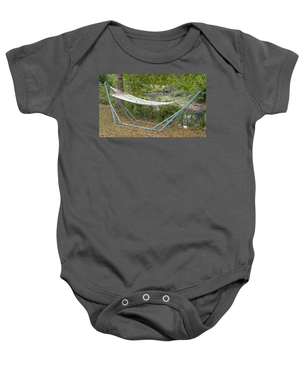 Calm Baby Onesie featuring the photograph Hammock by Gregory Gendusa