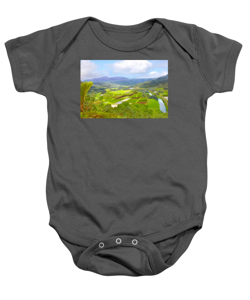 Hawaii Baby Onesie featuring the photograph Hanalai by Kurt Van Wagner