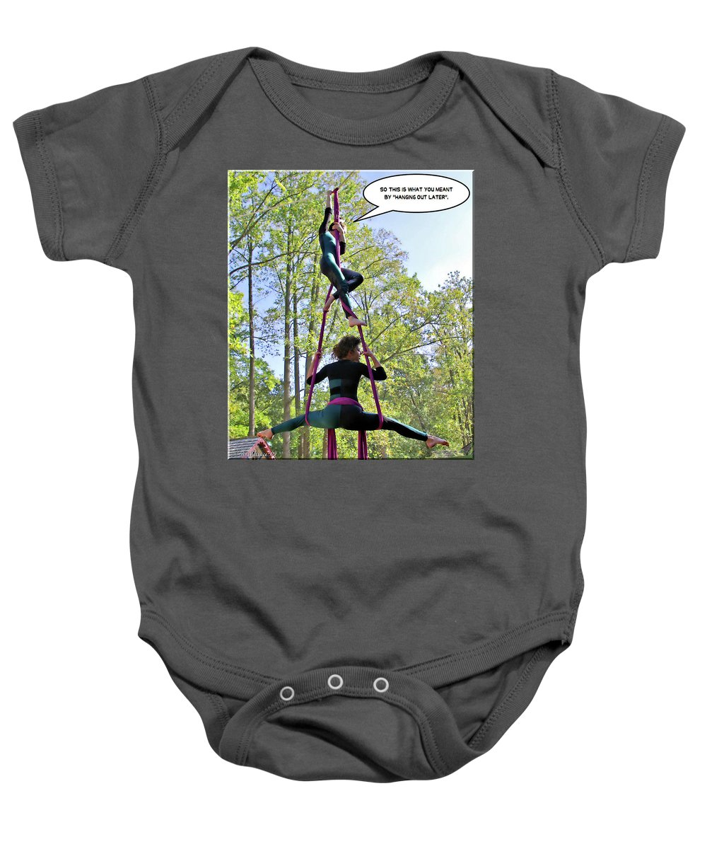 2d Baby Onesie featuring the photograph Hanging Out by Brian Wallace