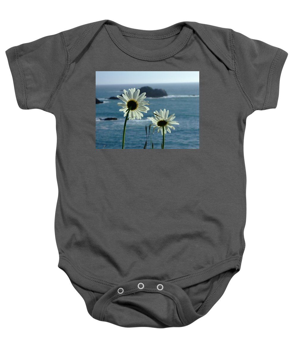 Daisy Baby Onesie featuring the photograph Happily Ever After by Donna Blackhall