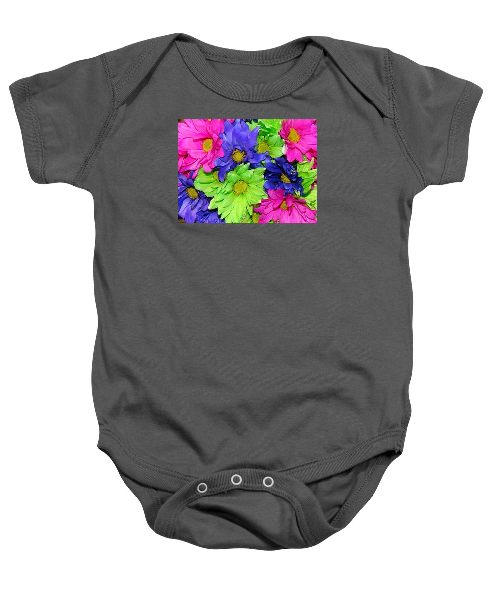 Flowers Baby Onesie featuring the photograph Happiness by J R  Seymour