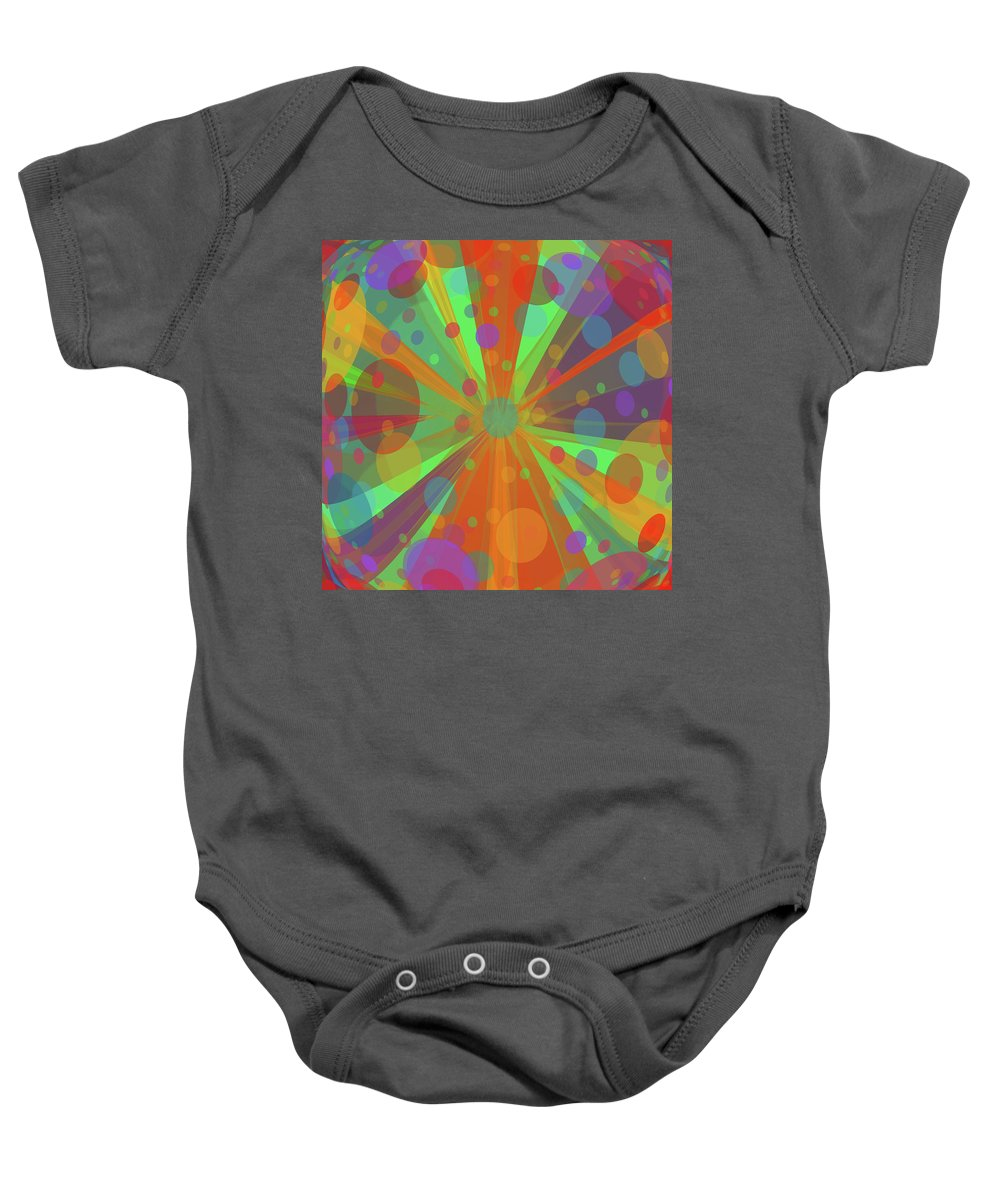 Baby Onesie featuring the mixed media Happy Blankie by Wagl Store