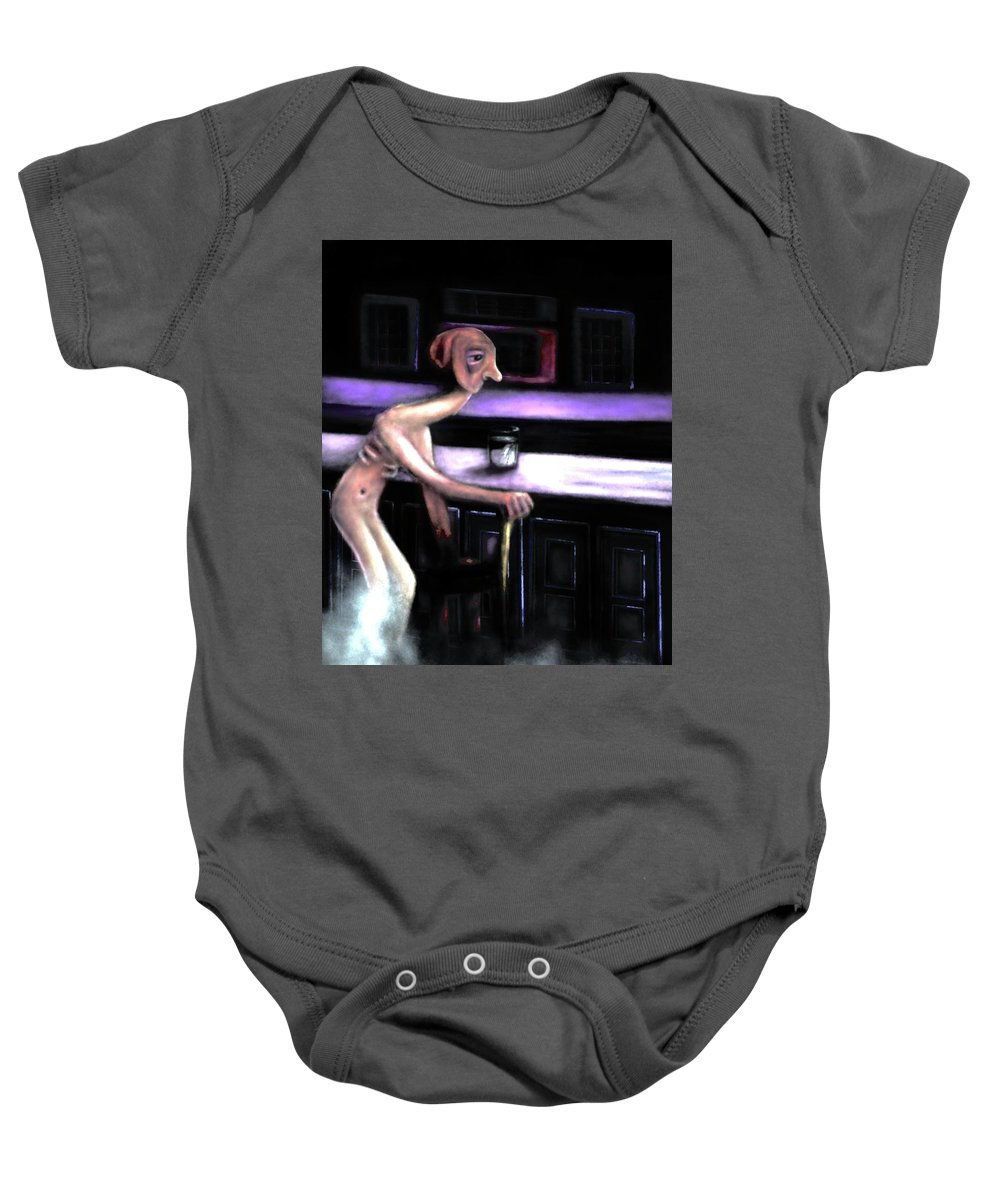 Baby Onesie featuring the digital art Happy Hour by Kyle Calandra
