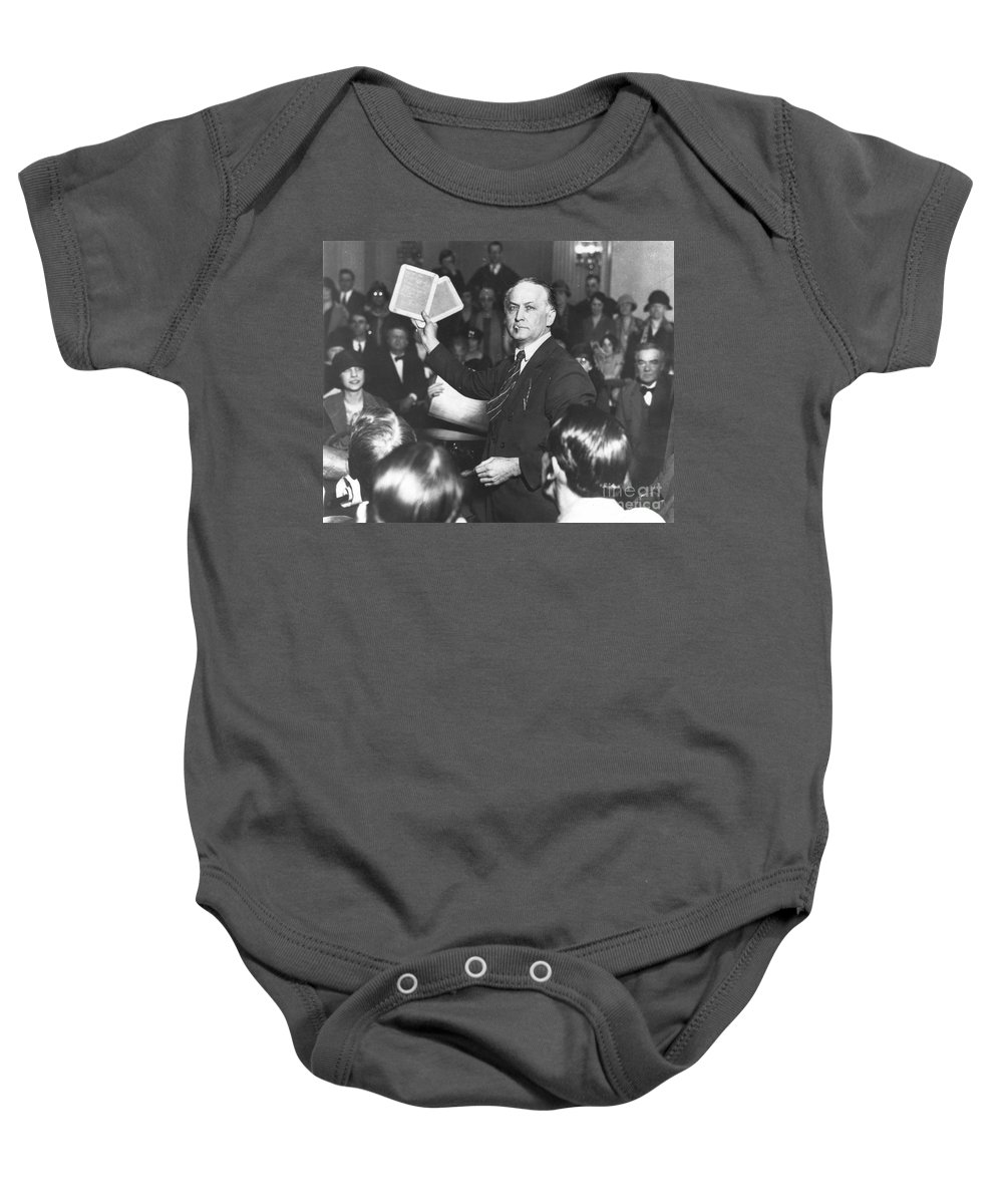 1926 Baby Onesie featuring the photograph Harry Houdini (1874-1926) by Granger
