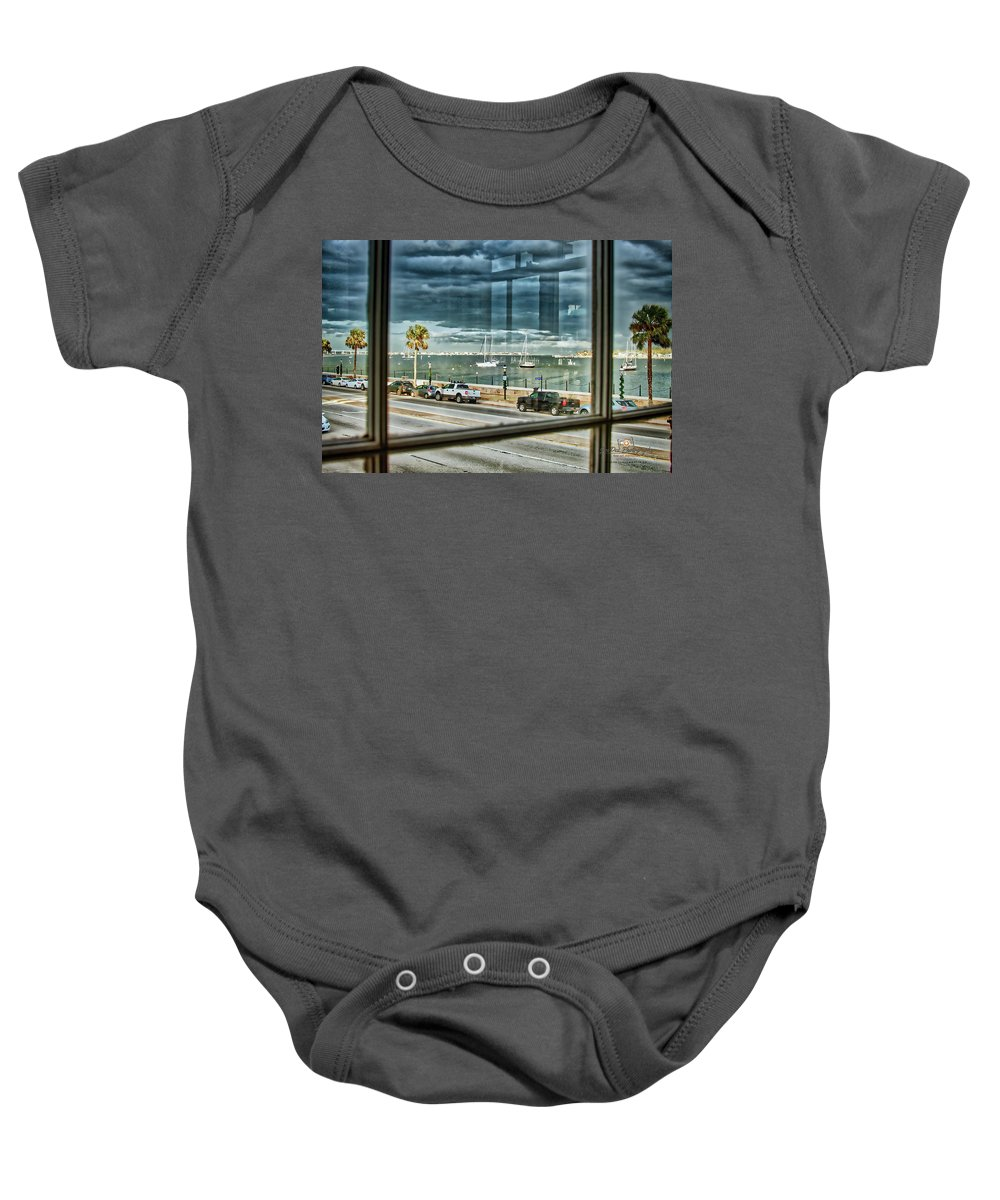 St Augustine Baby Onesie featuring the photograph Harry's Window by Joedes Photography