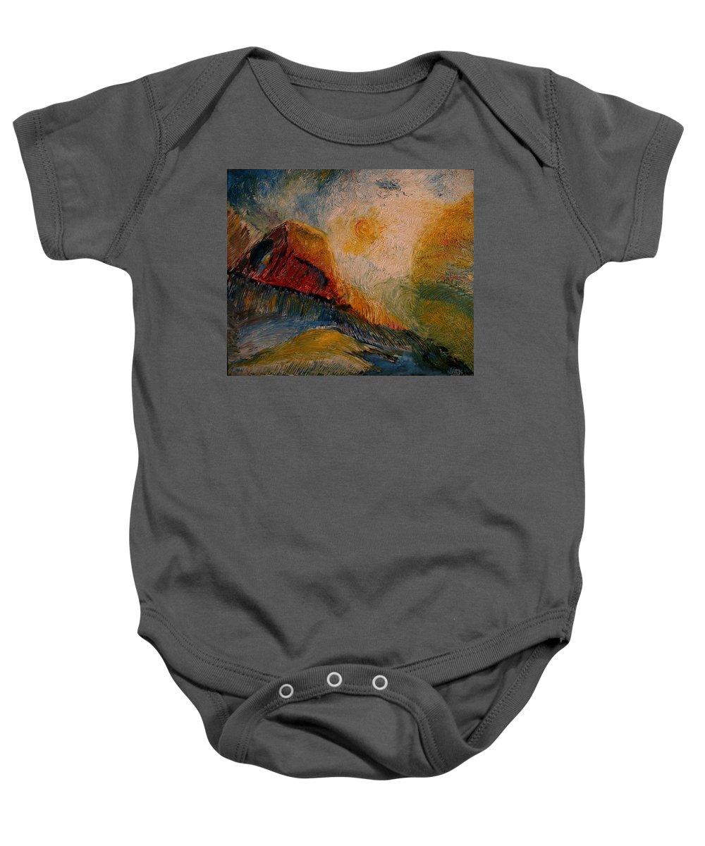 Rede Baby Onesie featuring the painting Harvast by Jack Diamond