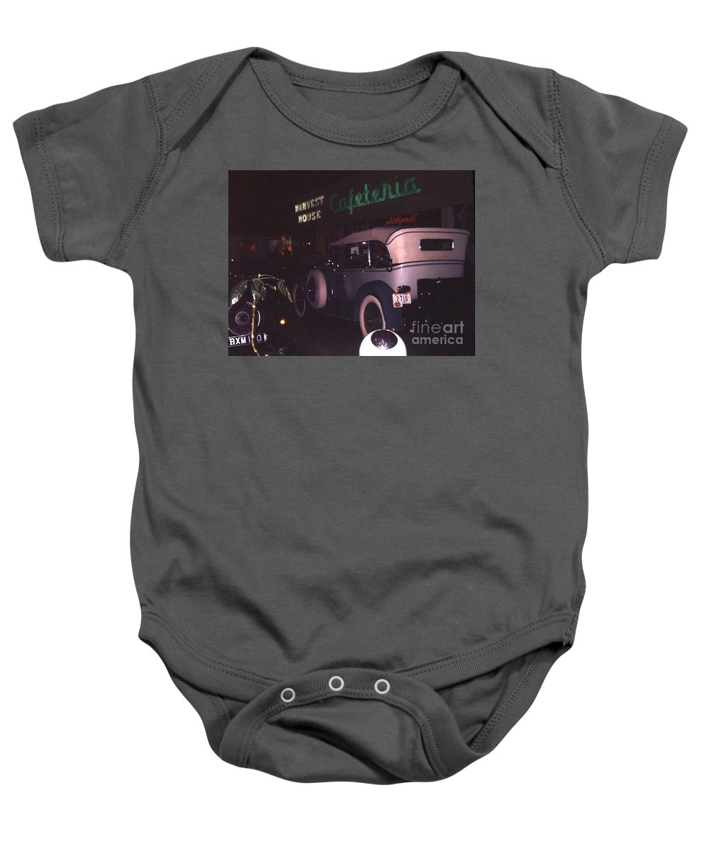 St. Louis County Baby Onesie featuring the photograph Harvest House Cafeteria At River Roads Mall by Dwayne Pounds