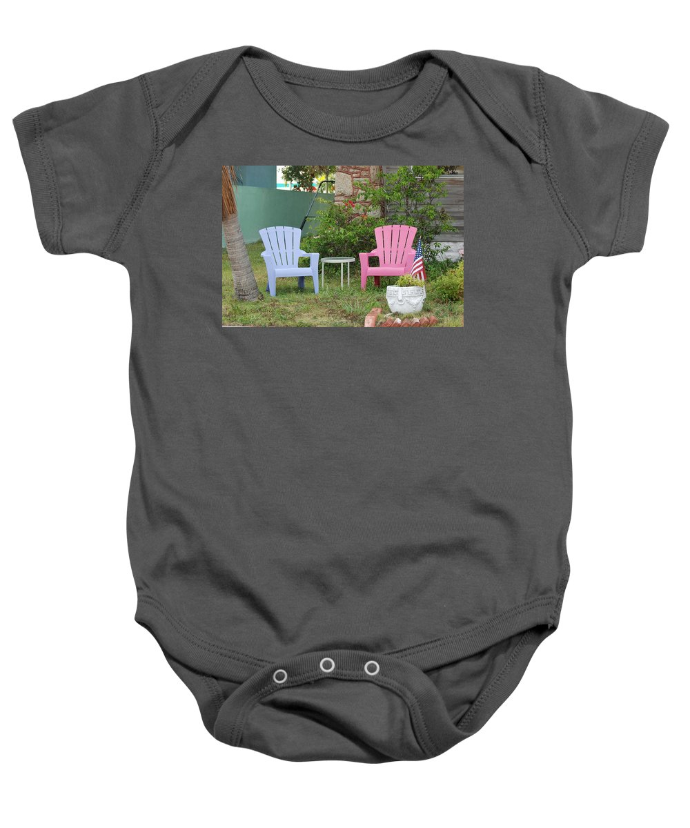 Art Deco Baby Onesie featuring the photograph Have A Seat by Rob Hans