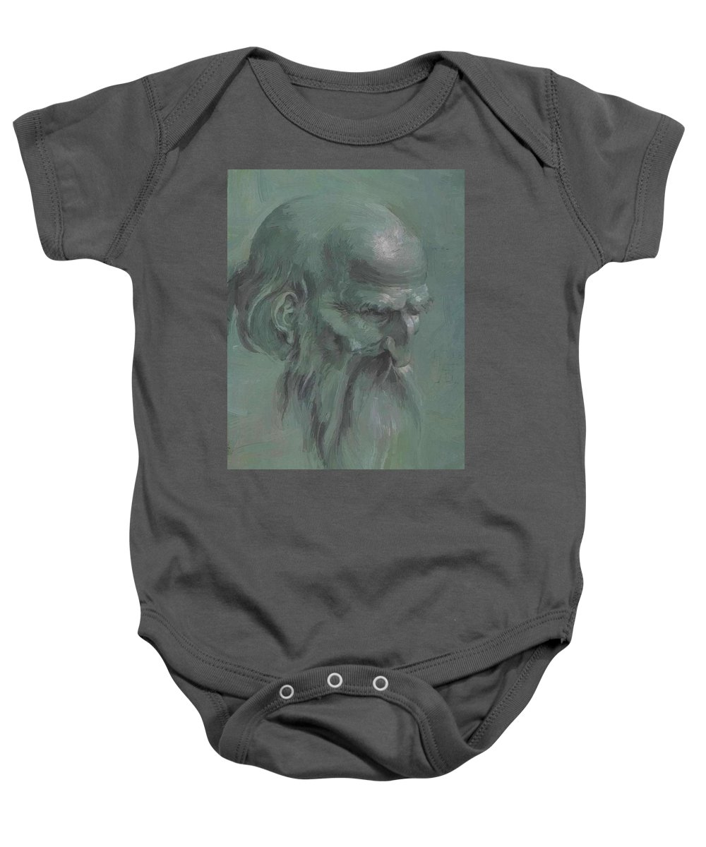 Head Baby Onesie featuring the painting Head Of A Apostle by Durer Albrecht