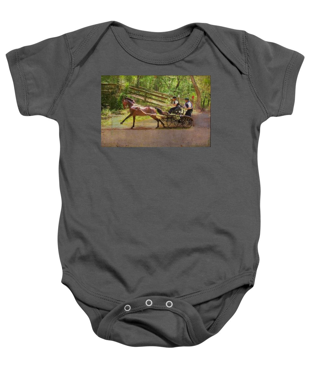 Horse Baby Onesie featuring the photograph Heading To The Gulch by Alice Gipson