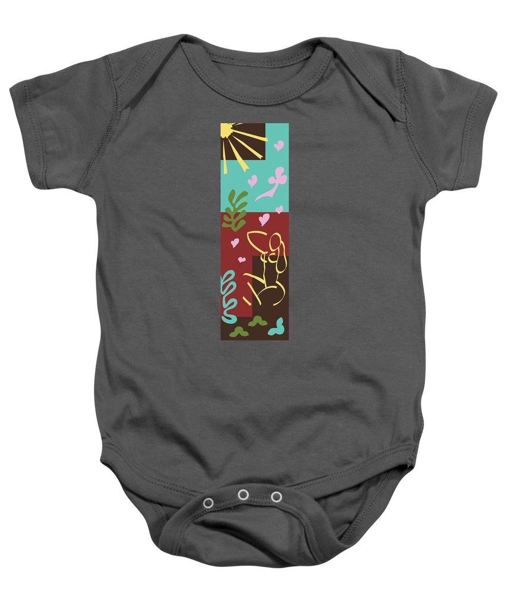 Henri Matisse Baby Onesie featuring the painting Health - Celebrate Life 3 by Xueling Zou