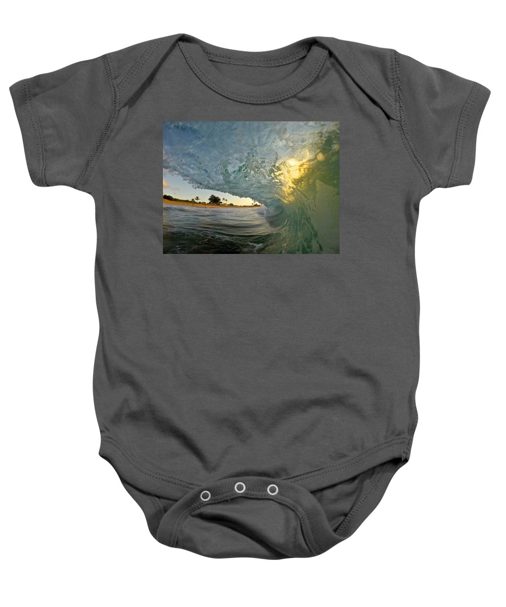 Wave Baby Onesie featuring the photograph Heartflame by Benen Weir