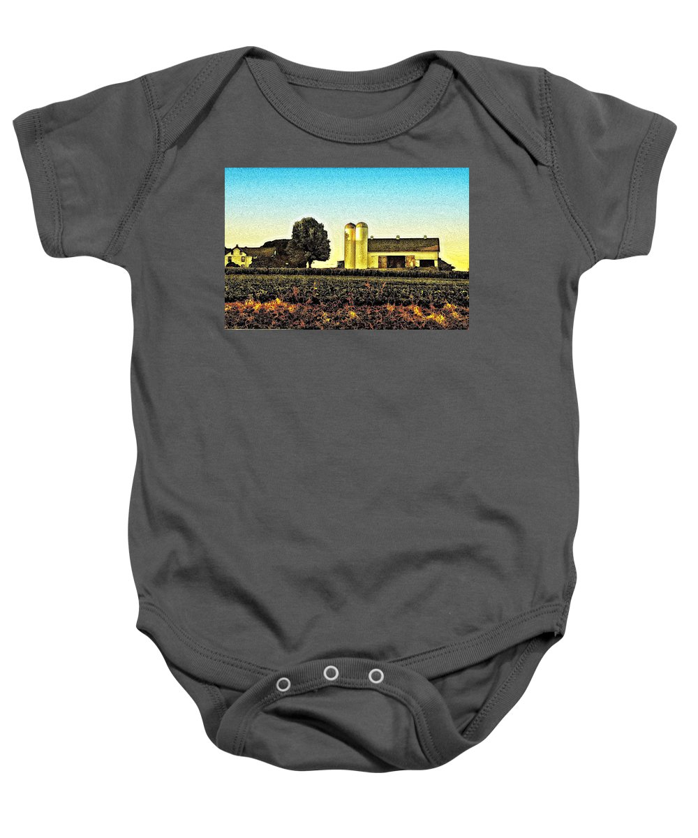 Heartland Baby Onesie featuring the photograph Heartland by Bill Cannon