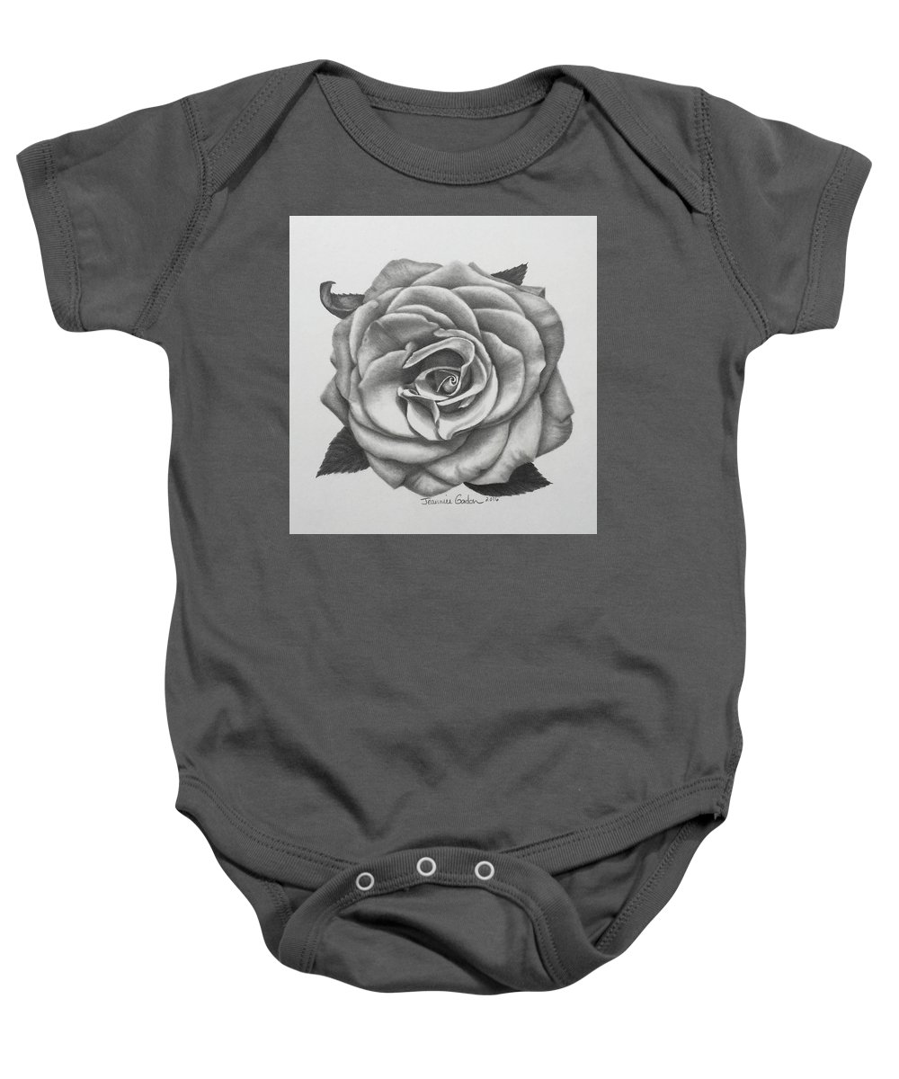 Floral Baby Onesie featuring the drawing Heaven Scent by Jeannice Gordon