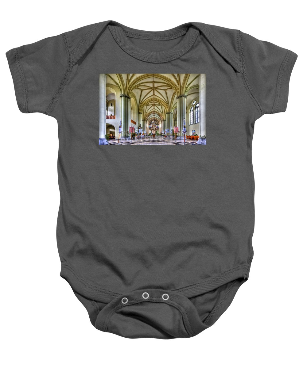 Church Baby Onesie featuring the photograph Heavenly by Evelina Kremsdorf