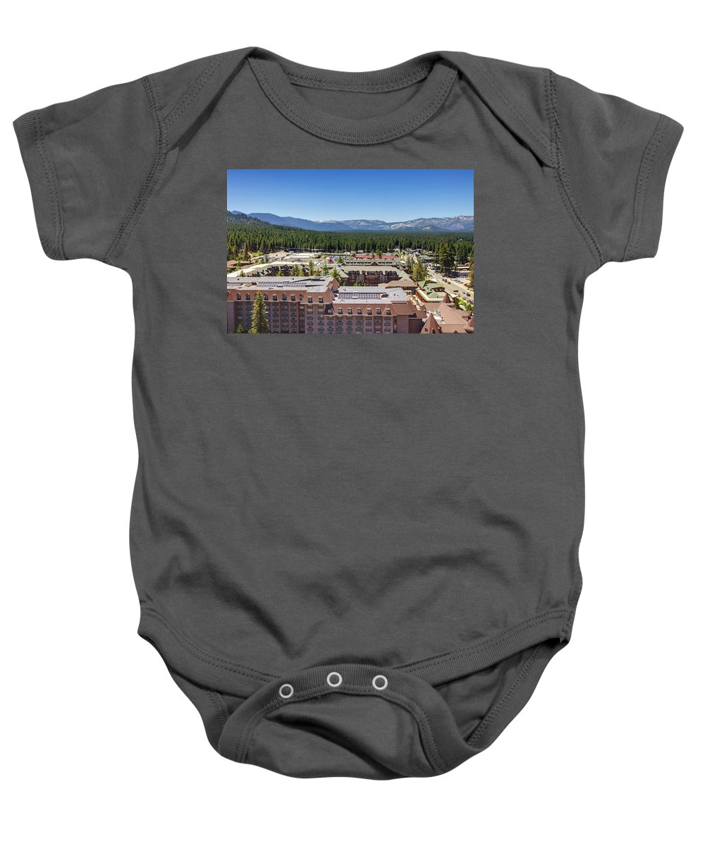 Heavenly Baby Onesie featuring the photograph Heavenly Village by Ricky Barnard