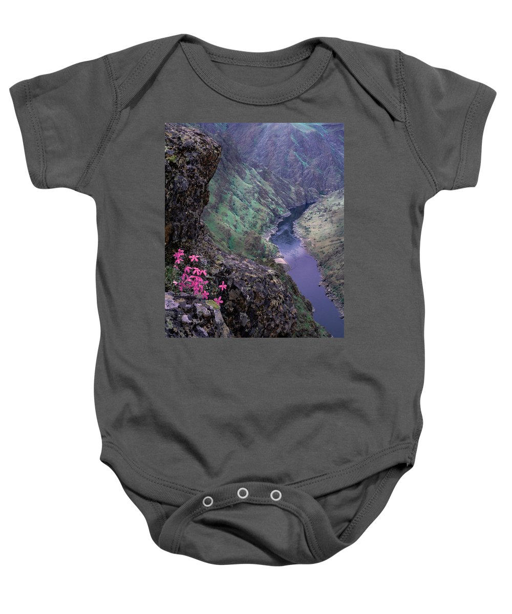 Hells Canyon Baby Onesie featuring the photograph Hells Canyon by Leland D Howard