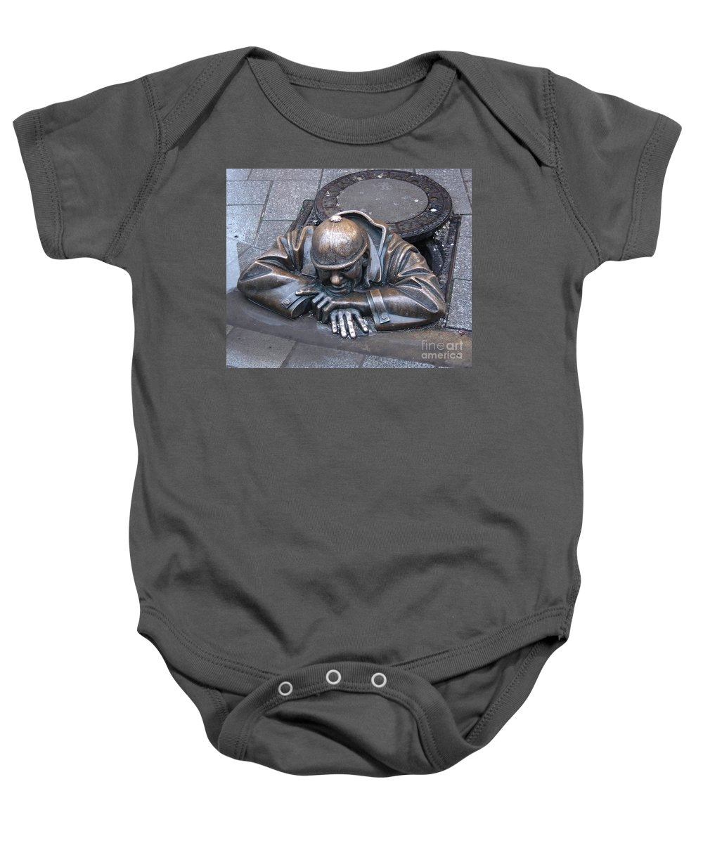 Man Baby Onesie featuring the photograph Help Me Out by Mary Rogers