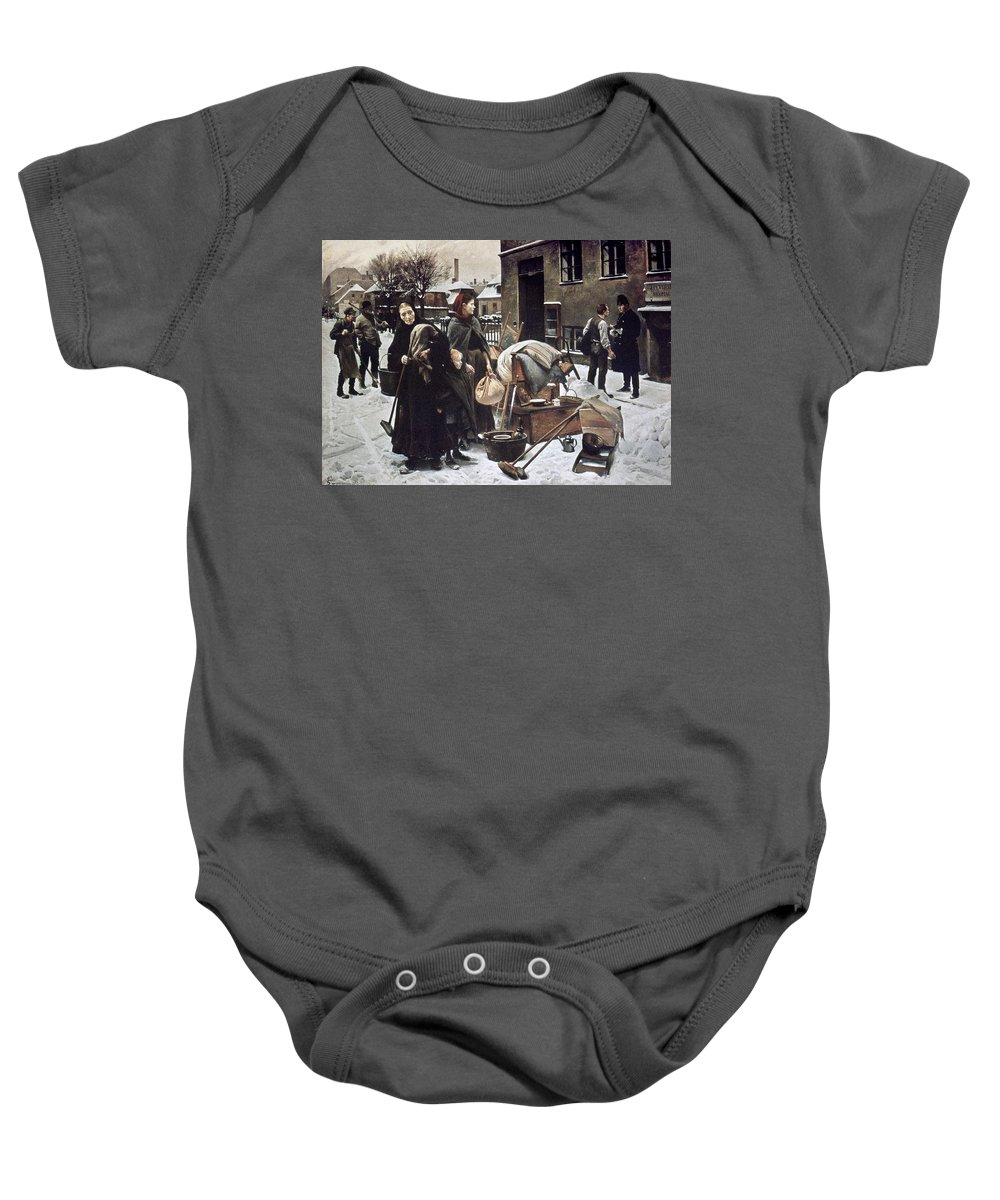 1890 Baby Onesie featuring the photograph Henningsen Evicted 1890 by Granger