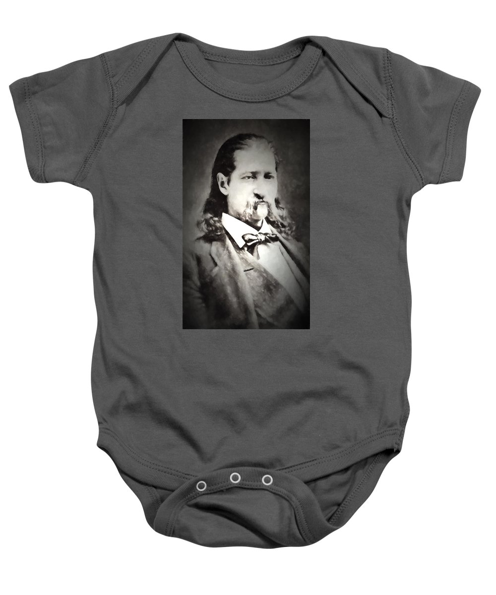 Hickok. Hickock Baby Onesie featuring the digital art Hickok Painterly 2 by Daniel Hagerman