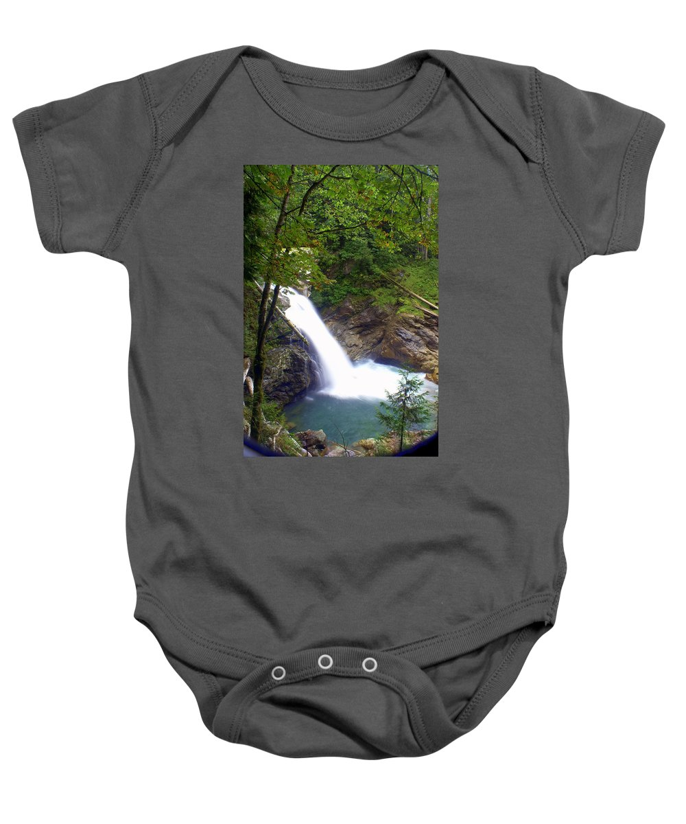 Waterfall Baby Onesie featuring the photograph Hidden Falls by Marty Koch