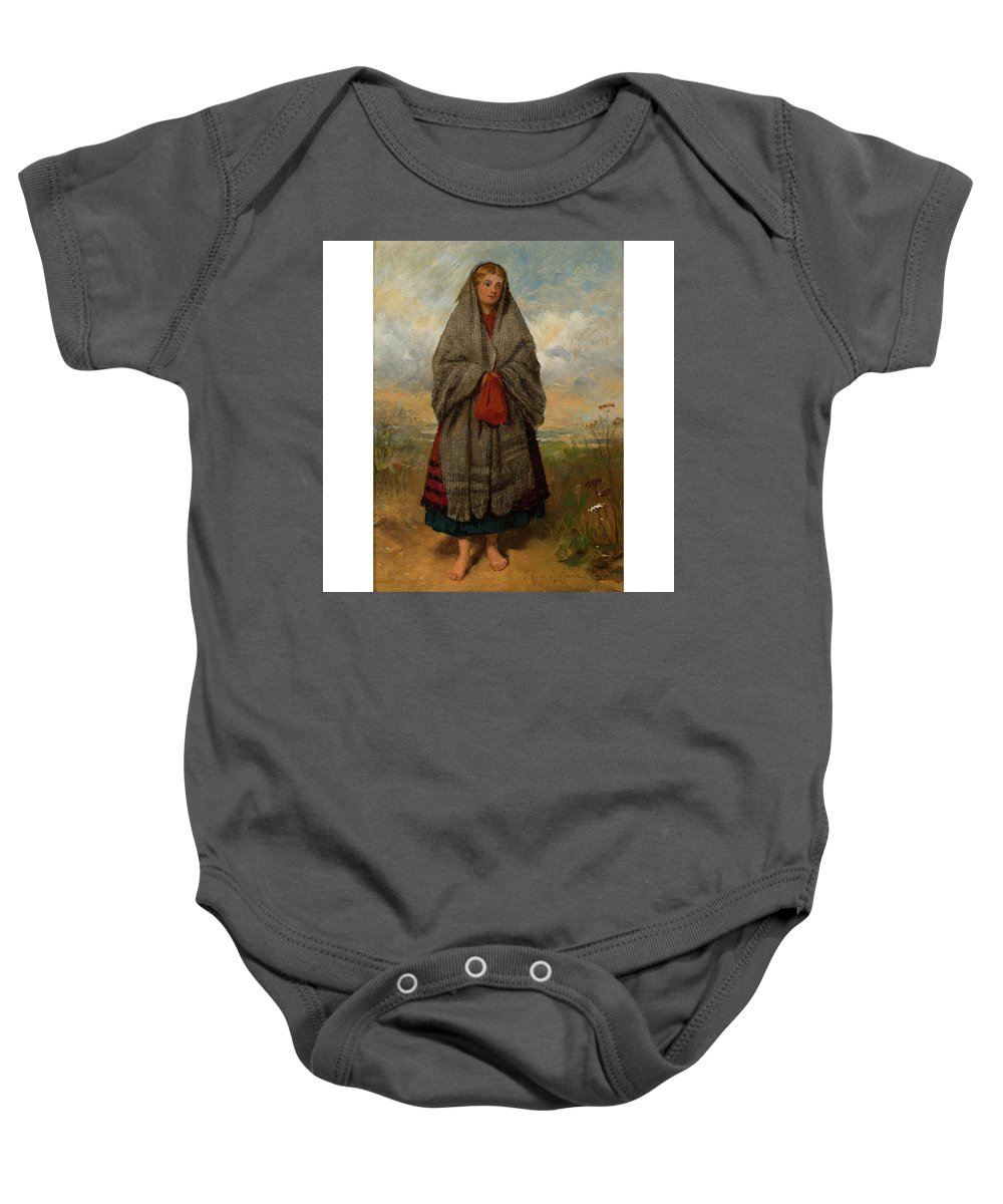 Thomas Faed R.a. Baby Onesie featuring the painting Highland Mary by Thomas Faed