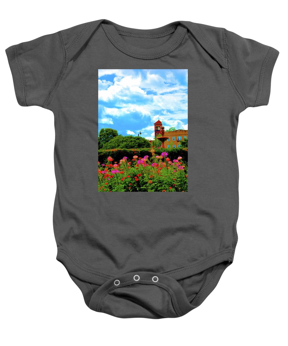 Nature Baby Onesie featuring the photograph Historic Rochester Gardens by Richard Jenkins