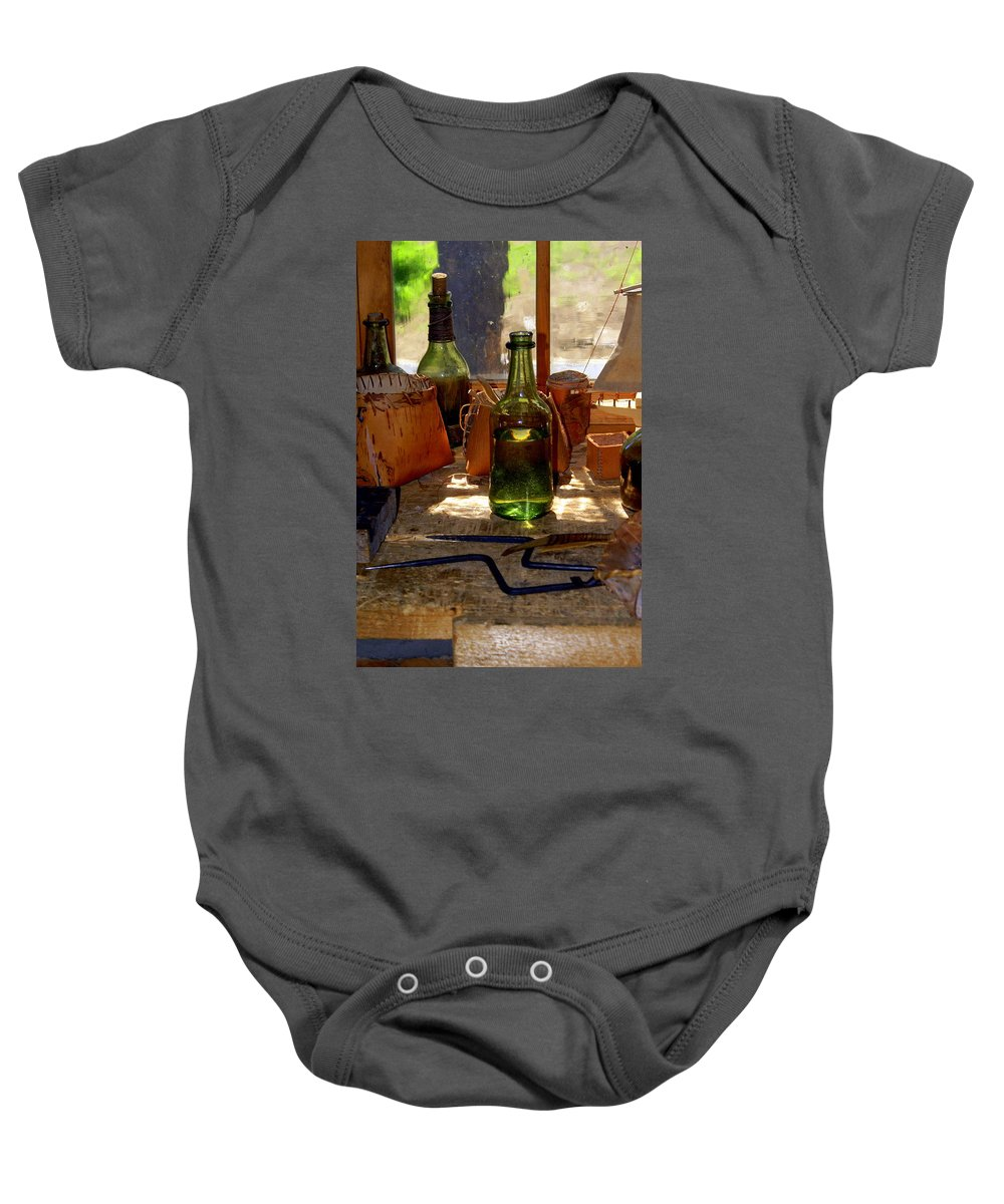 Still Life Baby Onesie featuring the photograph Historic Still Llife by Marty Koch