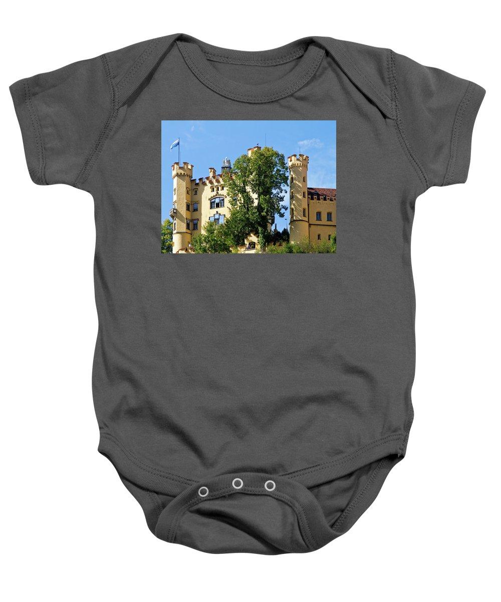 Schloss Baby Onesie featuring the photograph Holenschwangau Castle 2 by Bernard Barcos