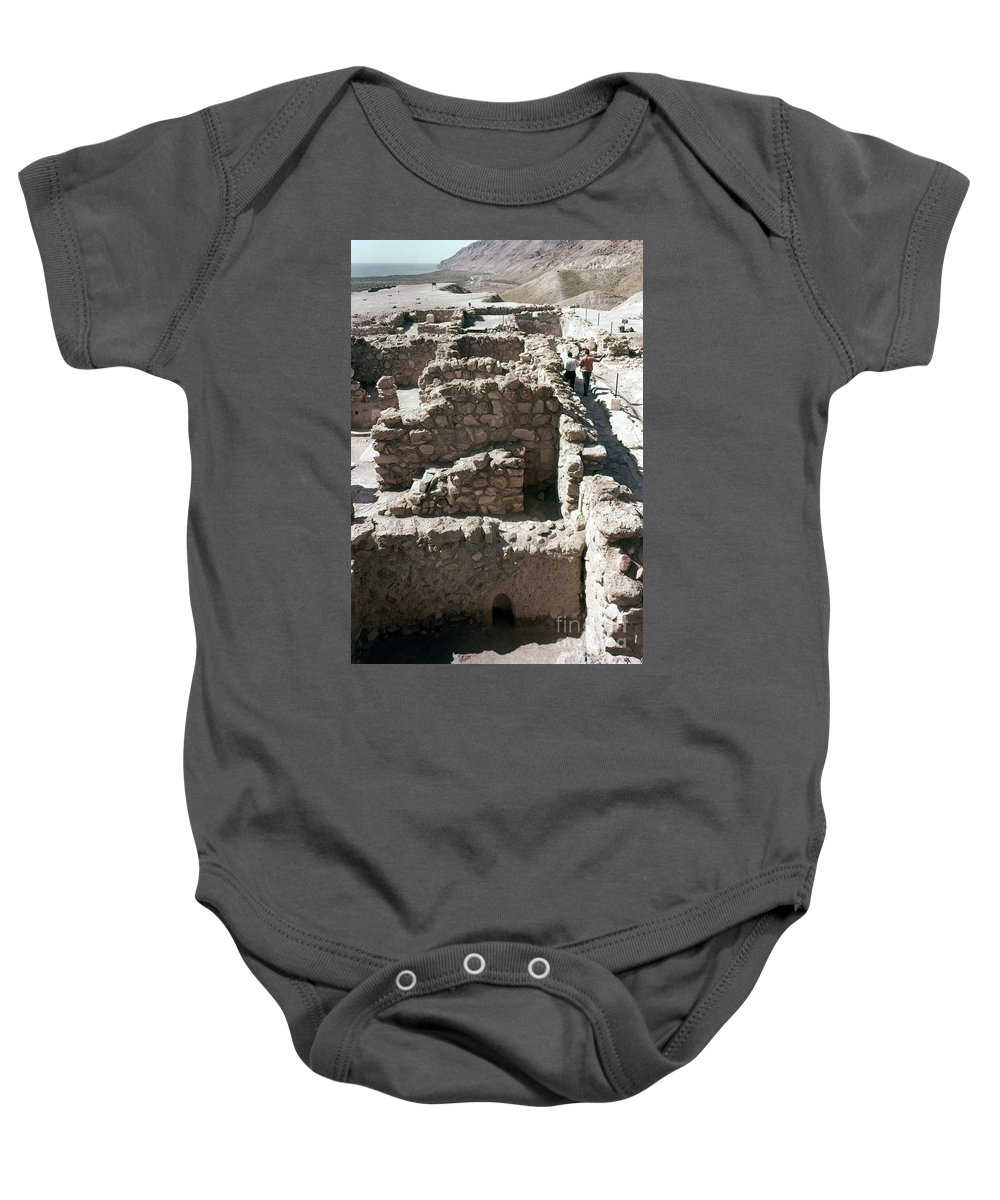 Ancient Baby Onesie featuring the photograph Holy Land: Qumran Ruins by Granger