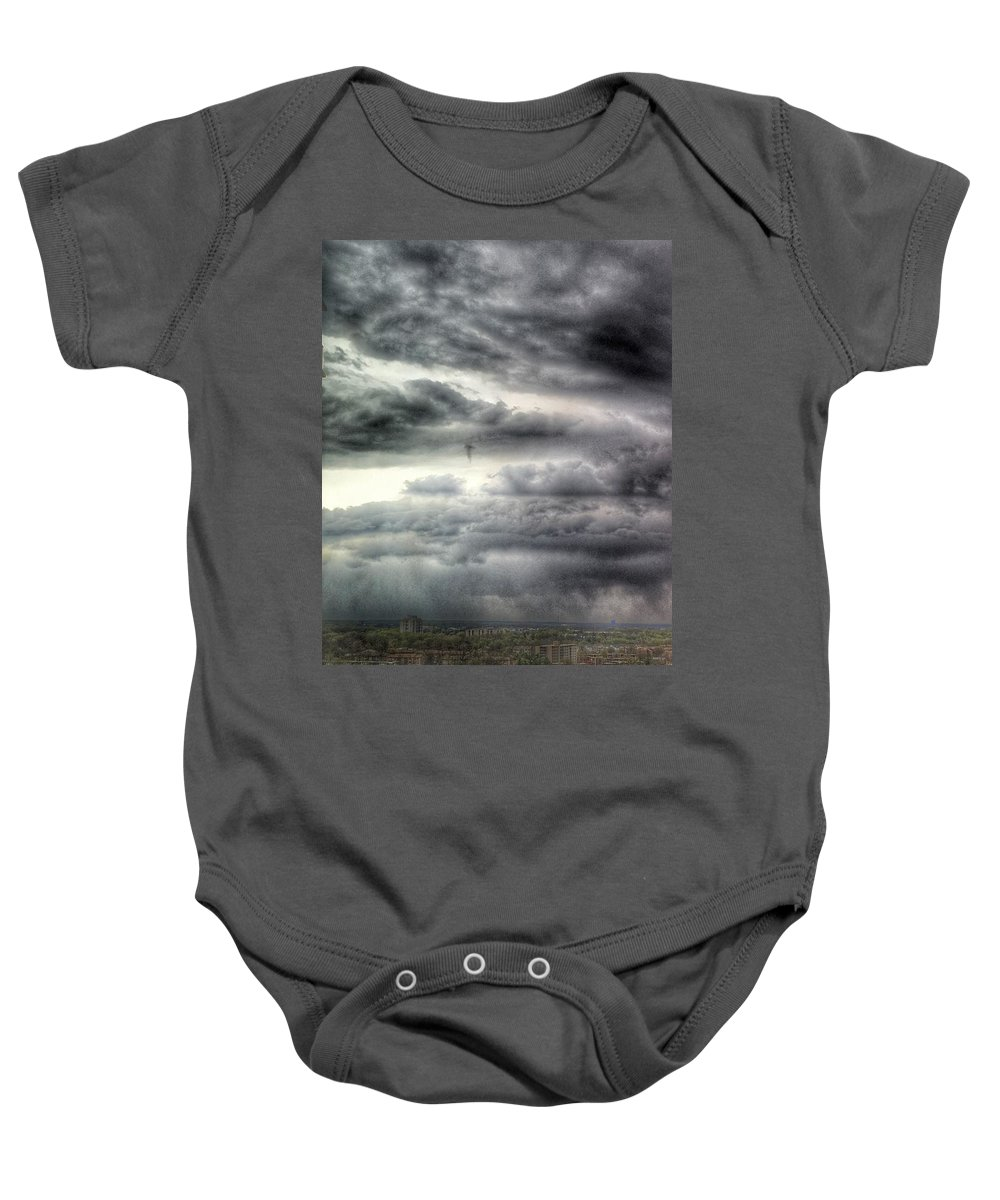 Clouds Baby Onesie featuring the photograph Homage To Stieglitz #2 by Kate McGlynn