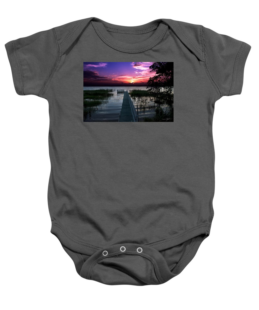 Sunsets Baby Onesie featuring the photograph Home by Dane Pontzius