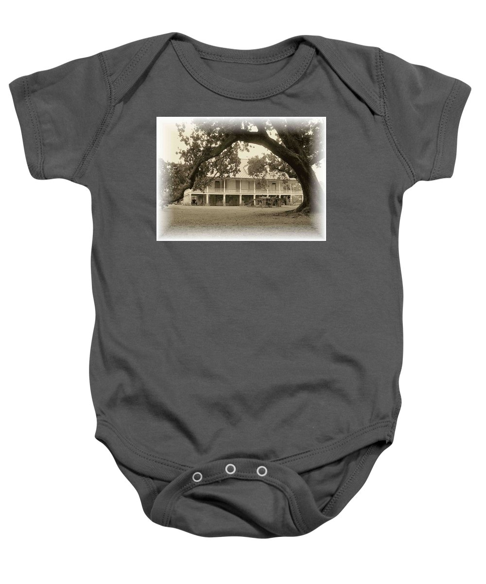 Plantation Baby Onesie featuring the photograph Home Place Impressions by Nelson Strong