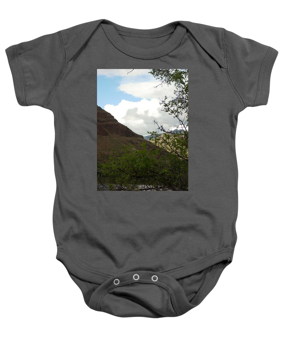 Clouds Baby Onesie featuring the photograph Home by Sara Stevenson