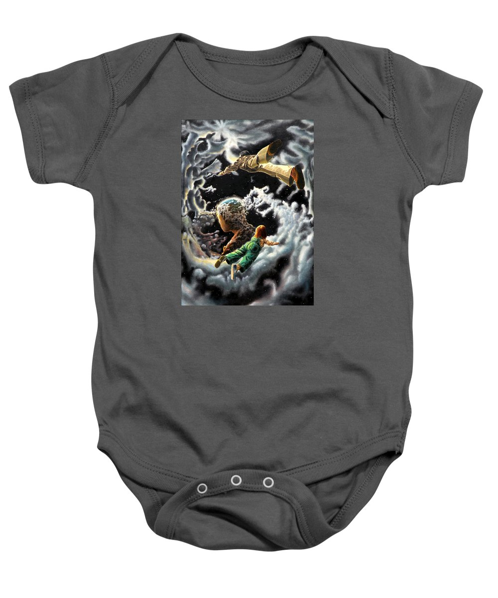 Fantasy Baby Onesie featuring the painting Homecoming by Dave Martsolf