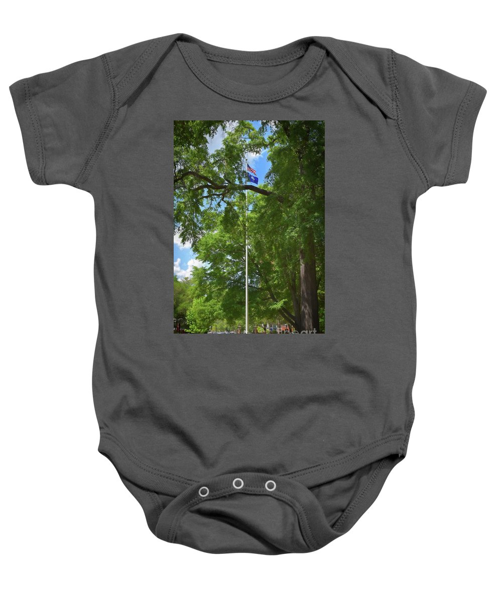 Scenic Tours Baby Onesie featuring the photograph Honor On The University Of South Carolina Campus by Skip Willits