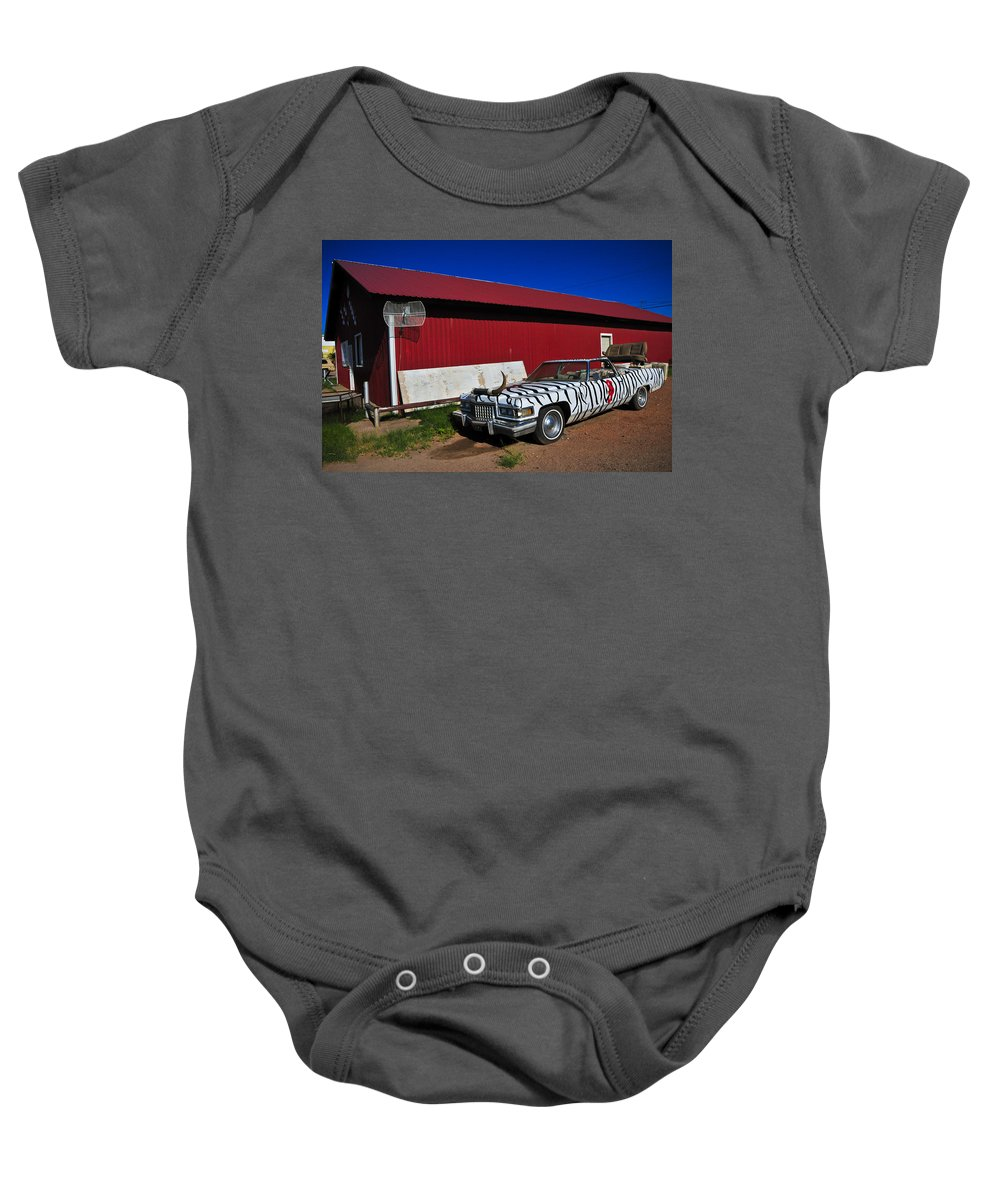 Horn Dog Baby Onesie featuring the photograph Horn Dog by Skip Hunt